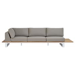GB-2696-3 Teak Life Edge / Aluminium 3-Seater Right Corner Sofa with Tray