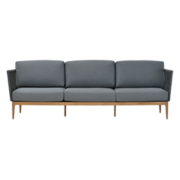GB-2699-3A-Teak / Aluminium 3-Seater Sofa with Rope
