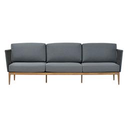GB-2699-3A-Teak / Aluminium 3-Seater Sofa with Rope