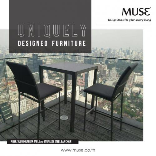 Post Table and Chair Bar MUSE 0903-01
